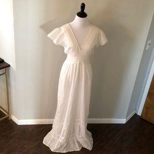 White cotton maxi dress. Size small